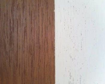 Teak malet hvid UDEN spartling